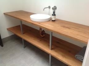 Tallow bathroom shelf