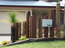 Recycled Timber Feature Posts front garden - Beattie